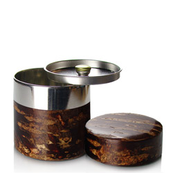 CHERRY BARK POLISHED FINISH - Empty tea canister 100g