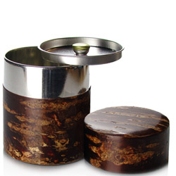 CHERRY BARK POLISHED FINISH - Empty tea canister 200g