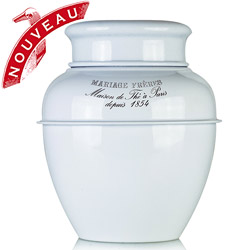 TEA JAR - Empty tea canister white & lacquered
