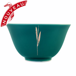 SILVER TIPS - Porcelain tea cup green