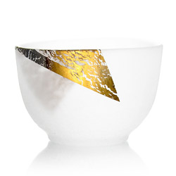 TEA CUP - Glass & gold leaf large size