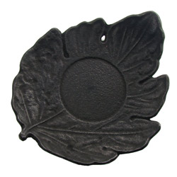 LEAF shaped saucer - Cast-iron black