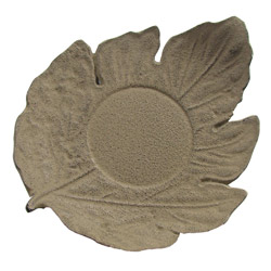 LEAF shaped saucer - Cast-iron brown