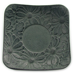 CHRYSANTHEMUM saucer - Cast-iron green