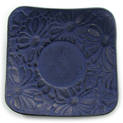 CHRYSANTHEMUM saucer - Cast-iron blue