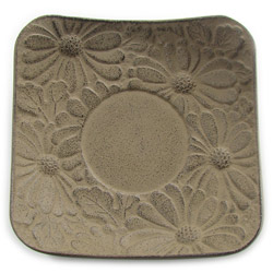 CHRYSANTHEMUM saucer - Cast-iron brown