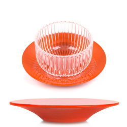 PLEINE LUNE® - Lacquered saucer  orange