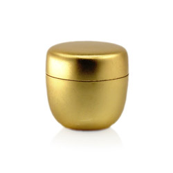 NATSUME - Matcha empty tea canister golden & lacquered