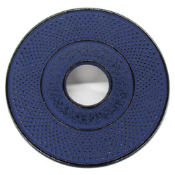 ARARE - Cast-iron trivet blue