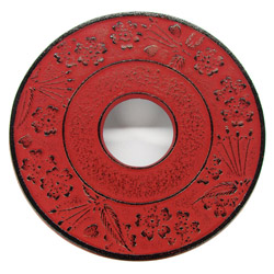 NATSUMI - Cast-iron trivet red