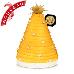 NOËL ÉTOILÉ - GOLD - Christmas log for 4 people flavoured with White Noël® tea