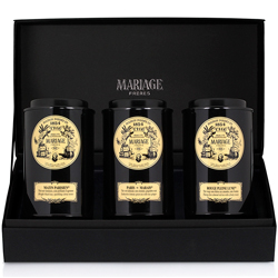 PARIS TEA TIME® - 3 teas gift set black tea, green tea & rooibos