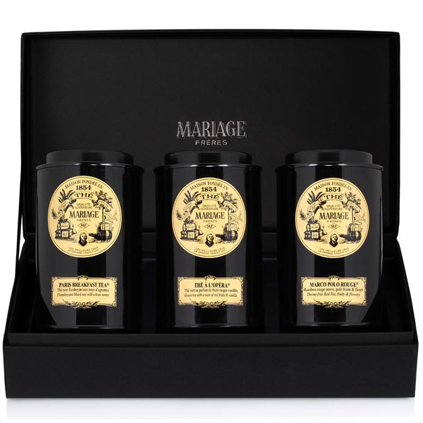 FRENCH TEA TIME™ - 3 teas gift set black tea, green tea & rooibos