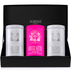 THÉS PRINCIERS®  - 3 teas gift set black tea, rooibos, white tea