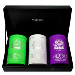 CHEFS D'OEUVRE - 3 teas gift set black tea, green tea & rooibos