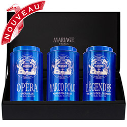 BLEU INDIGO™ - 3 teas gift set Blue tea