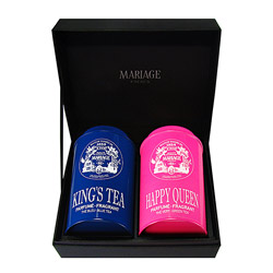 THÉS DES ROIS - 2 teas gift set - blue & green King's Tea® & Happy Queen®