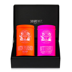 HIGH SOCIETY®  - 2 teas gift set - black & white Matin Parisien® & Madame Butterfly®