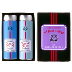 LUCKY NUMBER TEA® - 2 black teas gift set Bouddha Bleu® & Montagne de Jade®