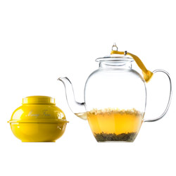 NEIGE DE JASMIN® - Tea gift set with jasmine green tea & hand blown glass teapot