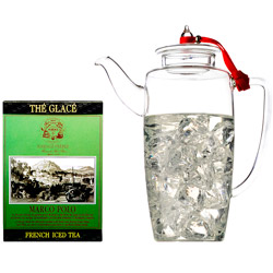 FRENCH ICED TEA - Tea set with Marco Polo ice tea & hand blown glass teapot
