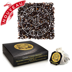 COVENT GARDEN MORNING® - Luminous black tea with lush,  aromatic notes of hazelnut