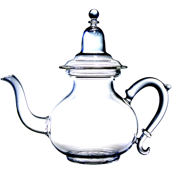 A1940 - FRENCH RIVIERA  Hand blown glass teapot