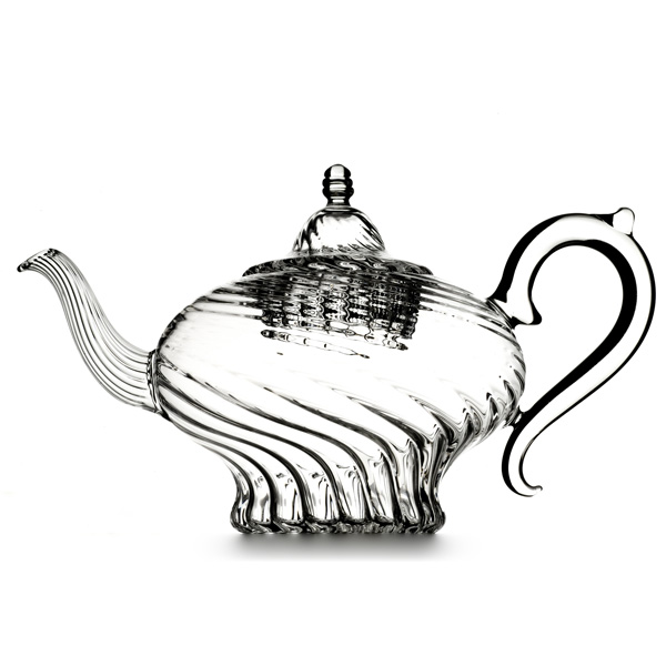 A19410 - HAPPY ALADIN  Hand blown glass teapot