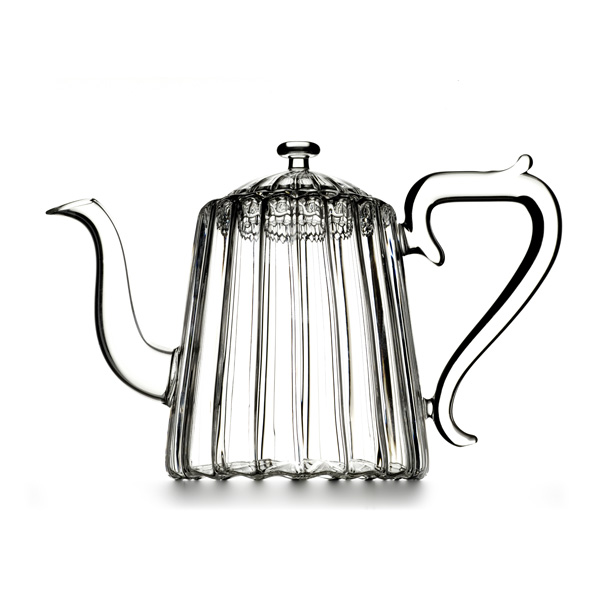 A19413 - HAPPY ME  Hand blown glass teapot