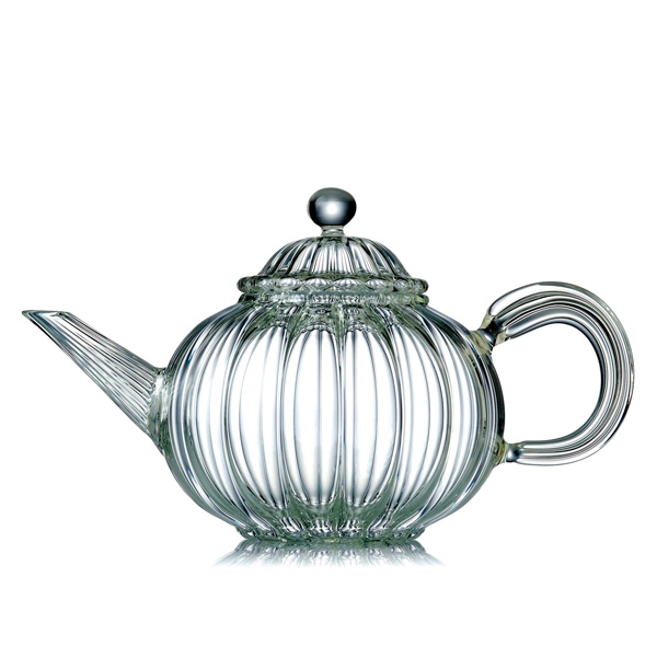 A19416 - HAPPY BOUDDHA  Hand blown glass teapot
