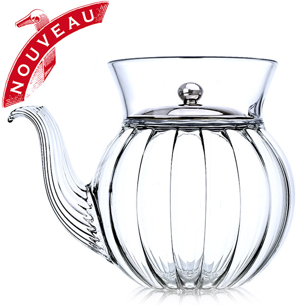 A19471 - FRENCH TEA CLUB Hand blown glass teapot