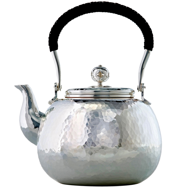 A3050 - LOVE POT Hammered silver plated teapot