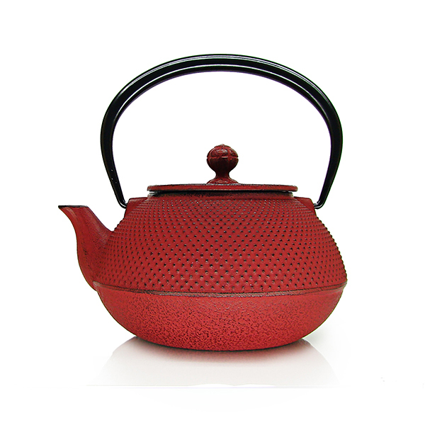 Arare teapot : japan cast iron teapot red, black, blue, green