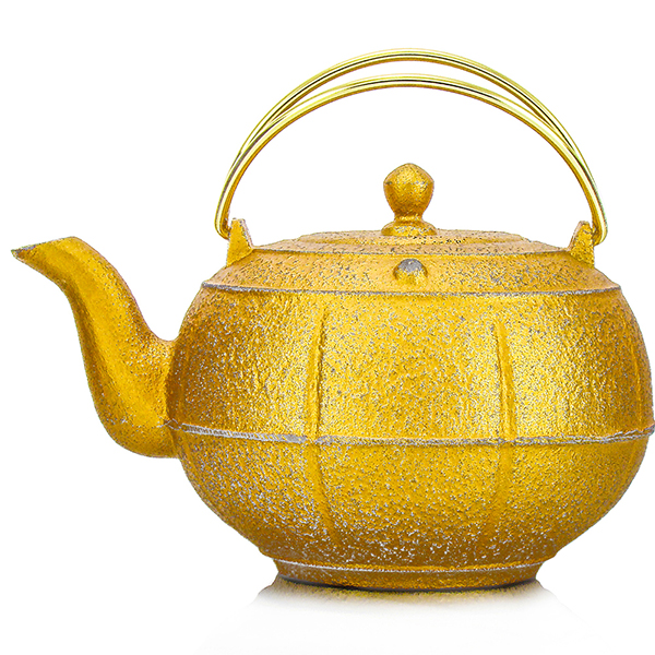 Pleine Lune teapot : japan cast iron teapot fuschia pink, black, purple, gold, silver, blue