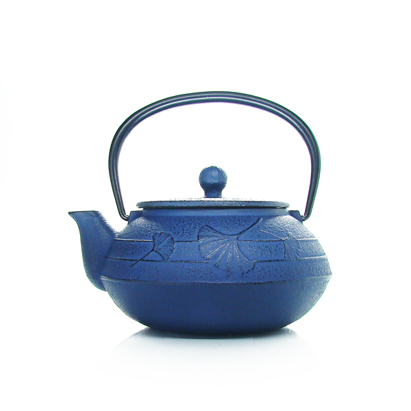 Gingko teapot : japan cast iron teapot red, black, blue,