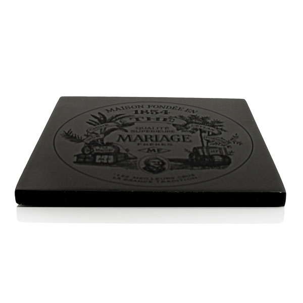 LACQUERED TRIVET - Teapot stand - black