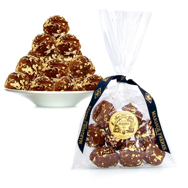 TRUFFES AU THE NOËL® - Paillettes d'or - chocolat