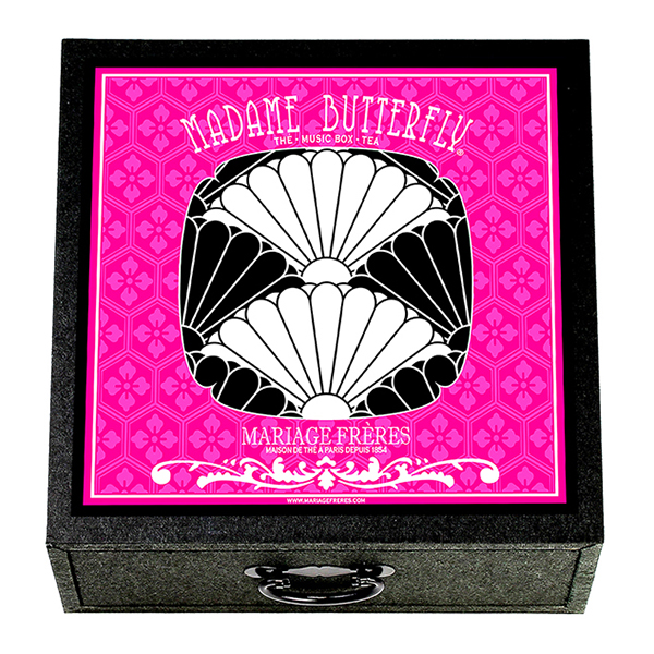 E98325 - MADAME BUTTERFLY® Music box - 4 teas