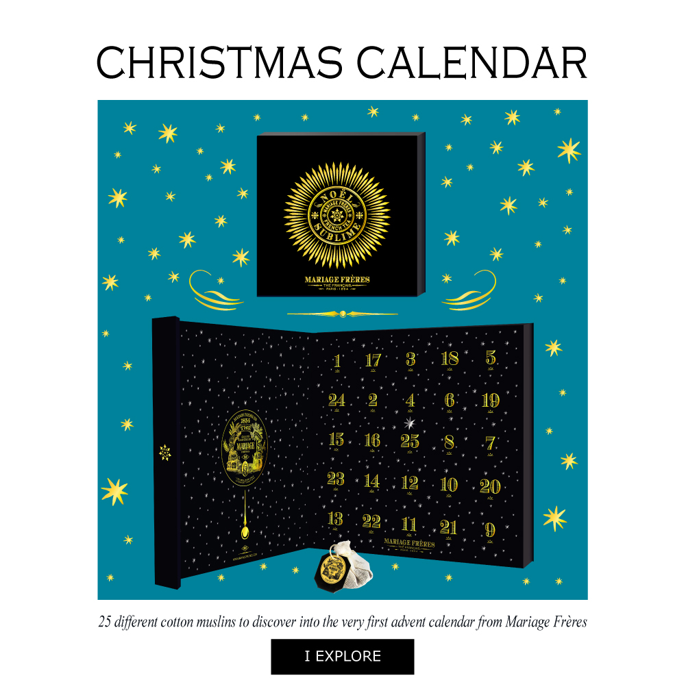 NOËL SUBLIME® Christmas calendar containing 25 cotton muslins to make the countdown until Christmas