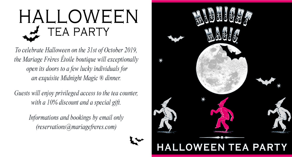 Halloween Tea Party - Special dinner inside our Mariage Frères Etoile boutique