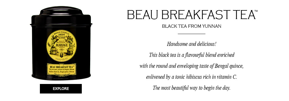 BEAU BREAKFAST TEA® Mellow black tea, Bengal quince, hibiscus