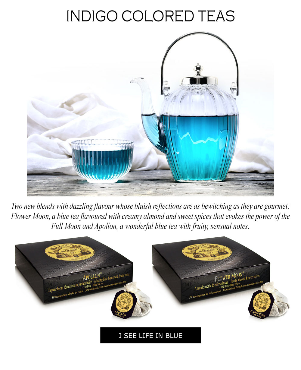 Tea with natural blue colour