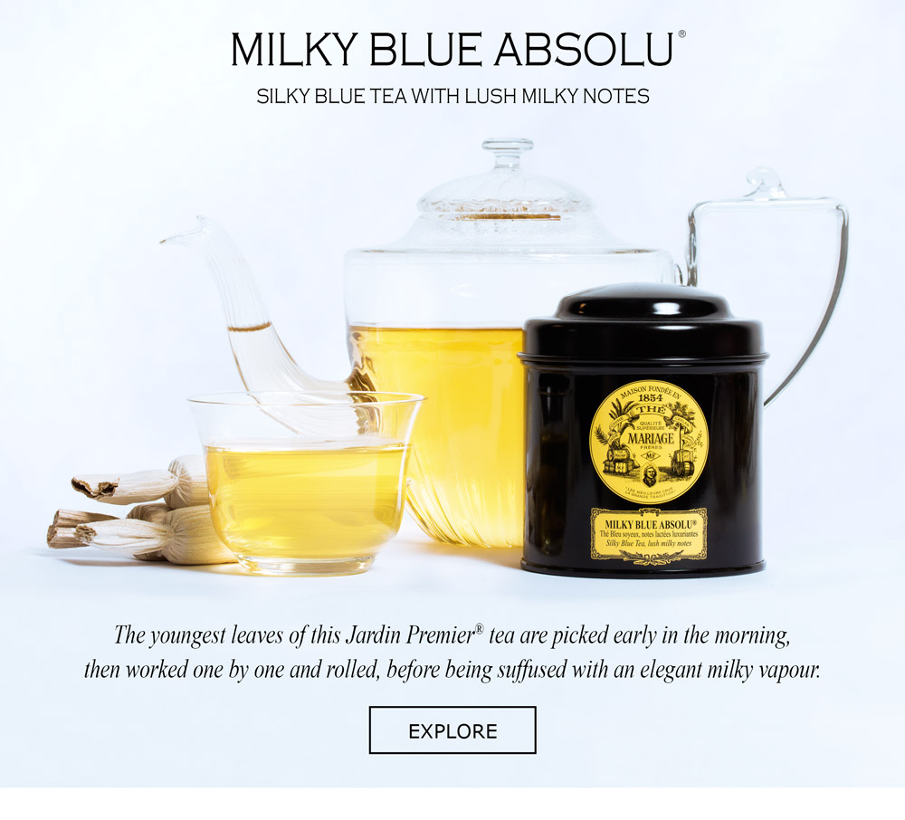 MILKY BLUE ABSOLU® Silky blue tea with lush milky notes