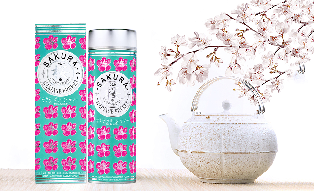 SAKURA 2020© Green tea with a flowery aroma of cherry blossom