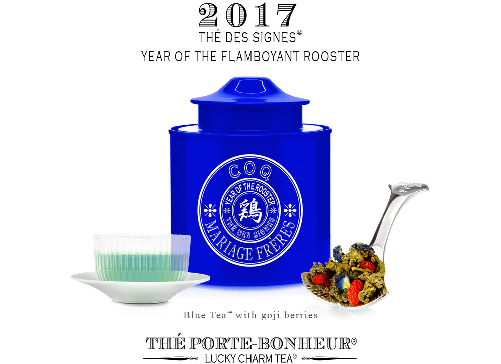 New blue tea fo the Thé des Signes collection : Flamboyant Rooster