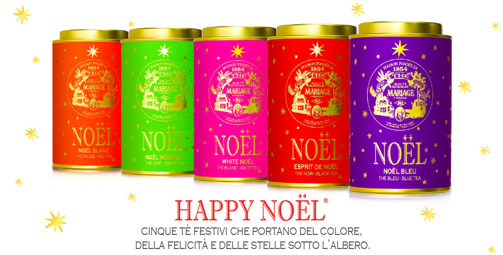 Happy Noël : a Christmas tea collection available in black tea, green tea, rooibos, white tea and blue tea