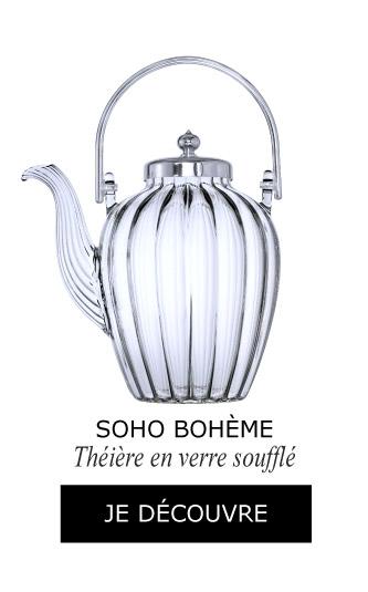 Théière Soho Bohème en verre soufflé