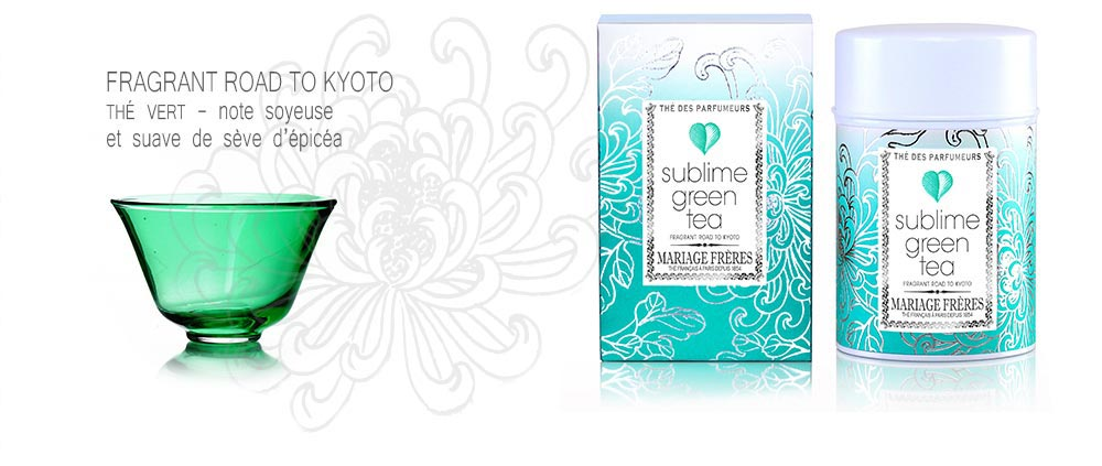Fragrant Road to Kyoto : Thé vert de la collection SUBLIME - note soyeuse et suave de sève d'épicéa