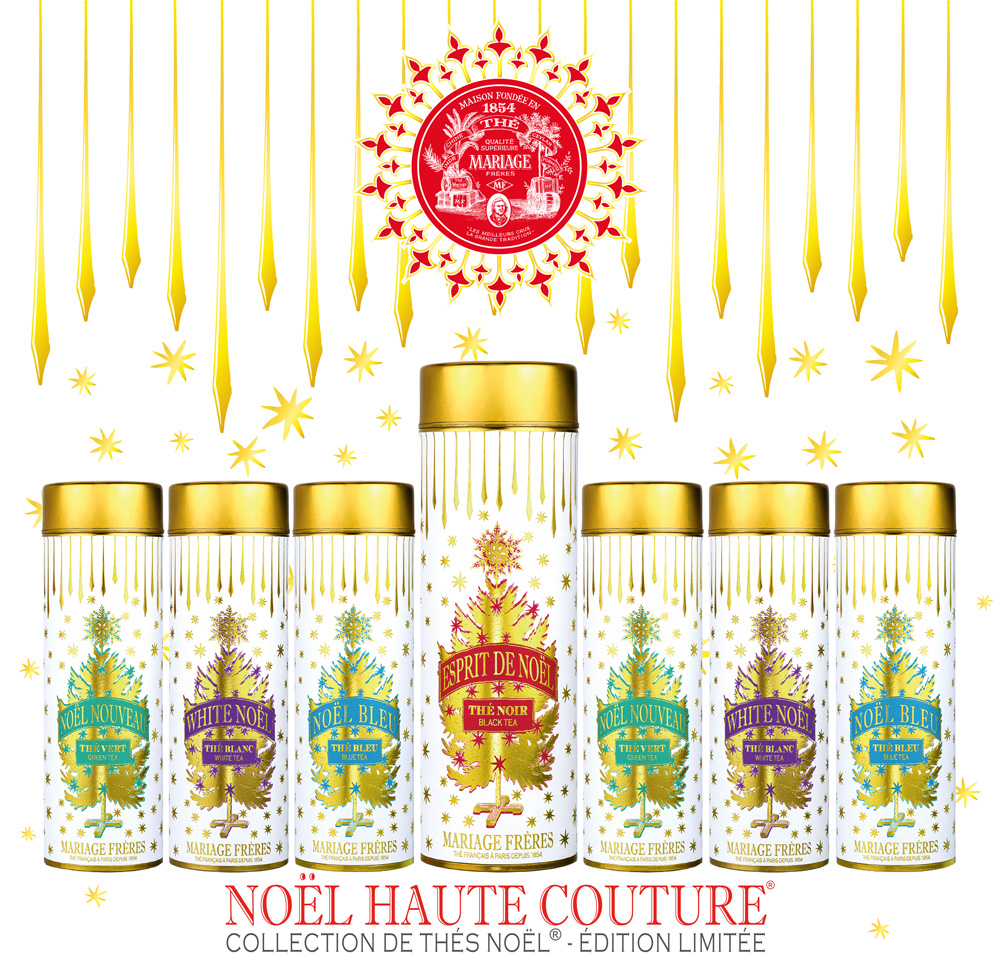 Noël Haute Couture : a new Christmas tea collection with organic green tea, black tea, white tea and blue tea