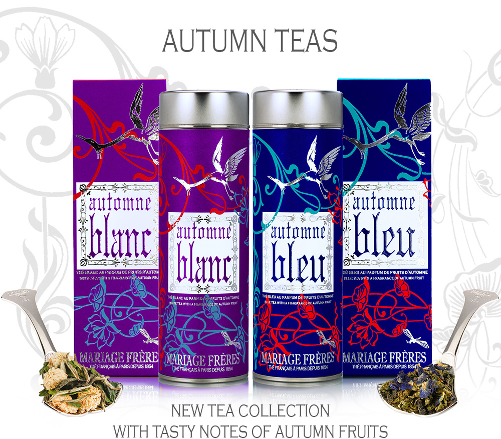 Autumn tea : a white tea & an a oolong blue tea